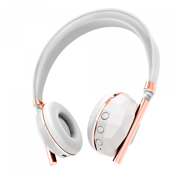 Caeden Linea Nº10 Bluetooth logo Wireless On Ear Ceramic & Rose Gold